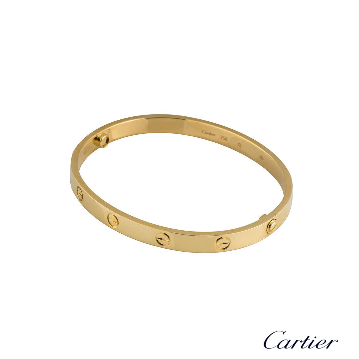 Cartier Yellow Gold Plain Love Bracelet Size 20 B6035520